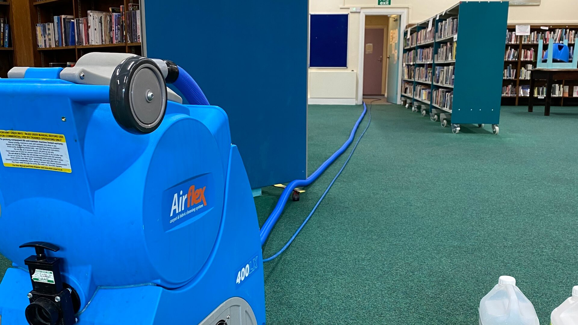 Commercial cleaning in public library