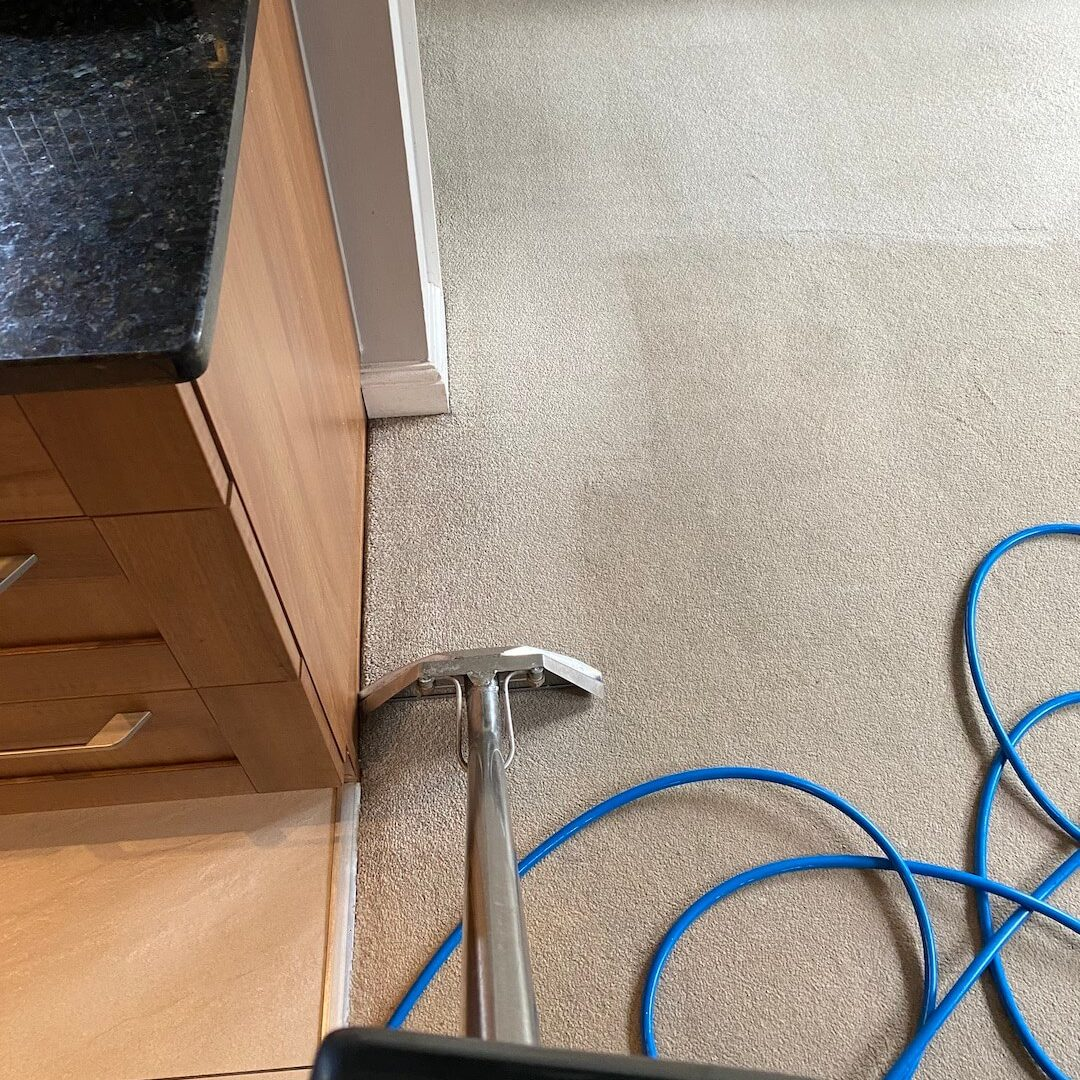 Carpet Cleaning side by side view